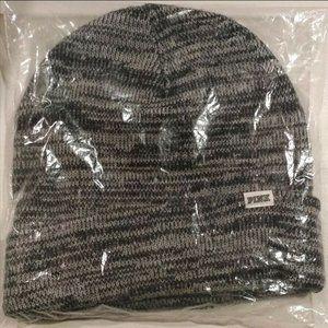 VS PINK knit Beanie Hat black grey Marl NEW